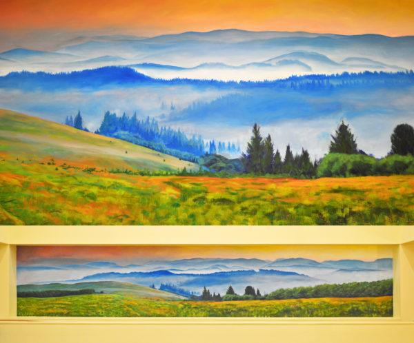 Misty Morning Mural